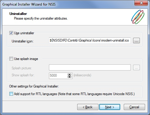 Graphical Installer - Features